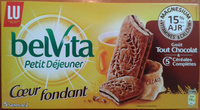Belvita Petit Déjeuner Coeur Fondant Goût Tout Chocolat & 5 Céréales Complètes - Produit - fr
