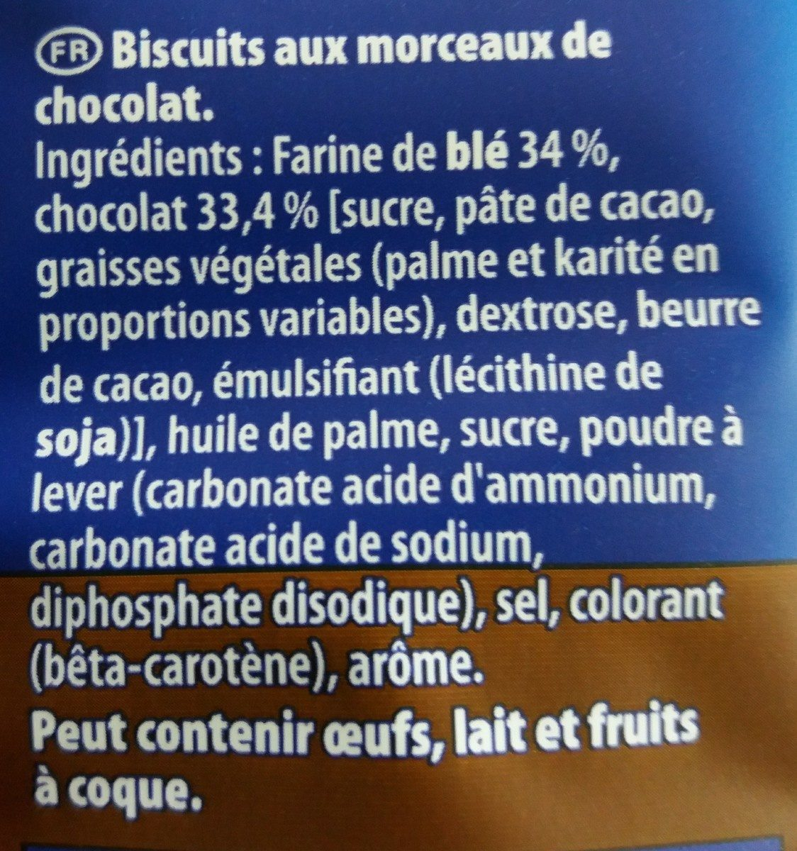 Granola L'original Gros éclats de chocolat - Ingredients - fr