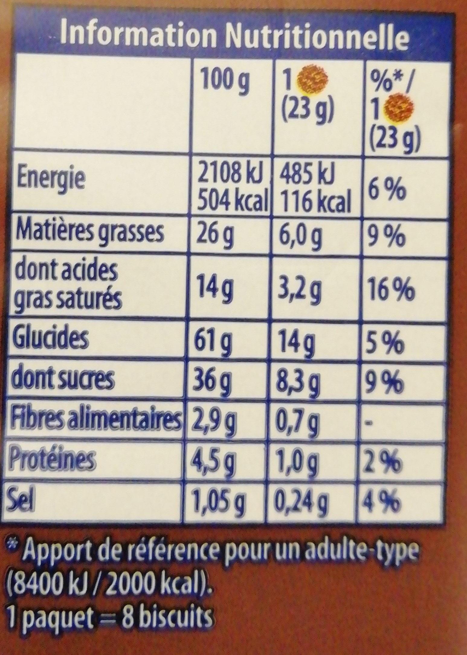 Granola L'original Gros éclats de chocolat - Nutrition facts - fr