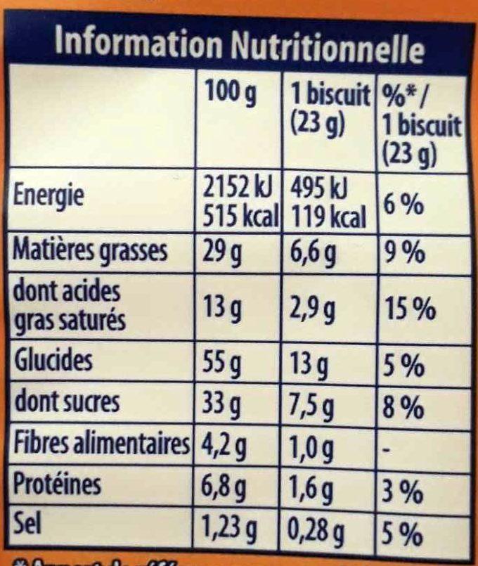 Granola Gros éclats de Chocolat - Informations nutritionnelles - fr