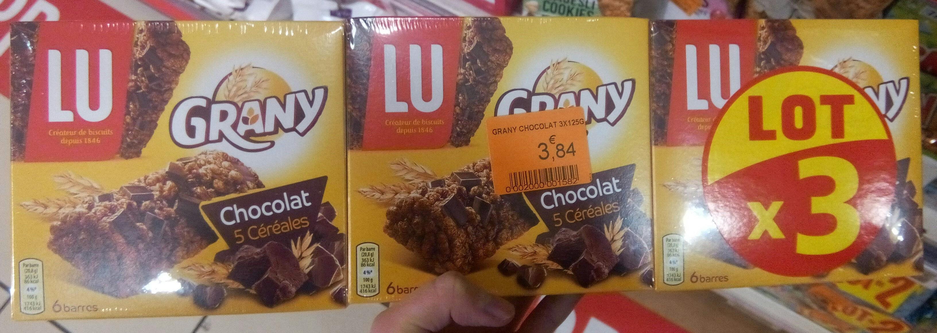 Grany 3x125gr chocolat lot - Produit - fr