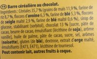 Grany 3x125gr chocolat lot - Ingrédients - fr