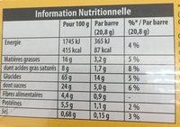 Grany 3x125gr chocolat lot - Informations nutritionnelles - fr