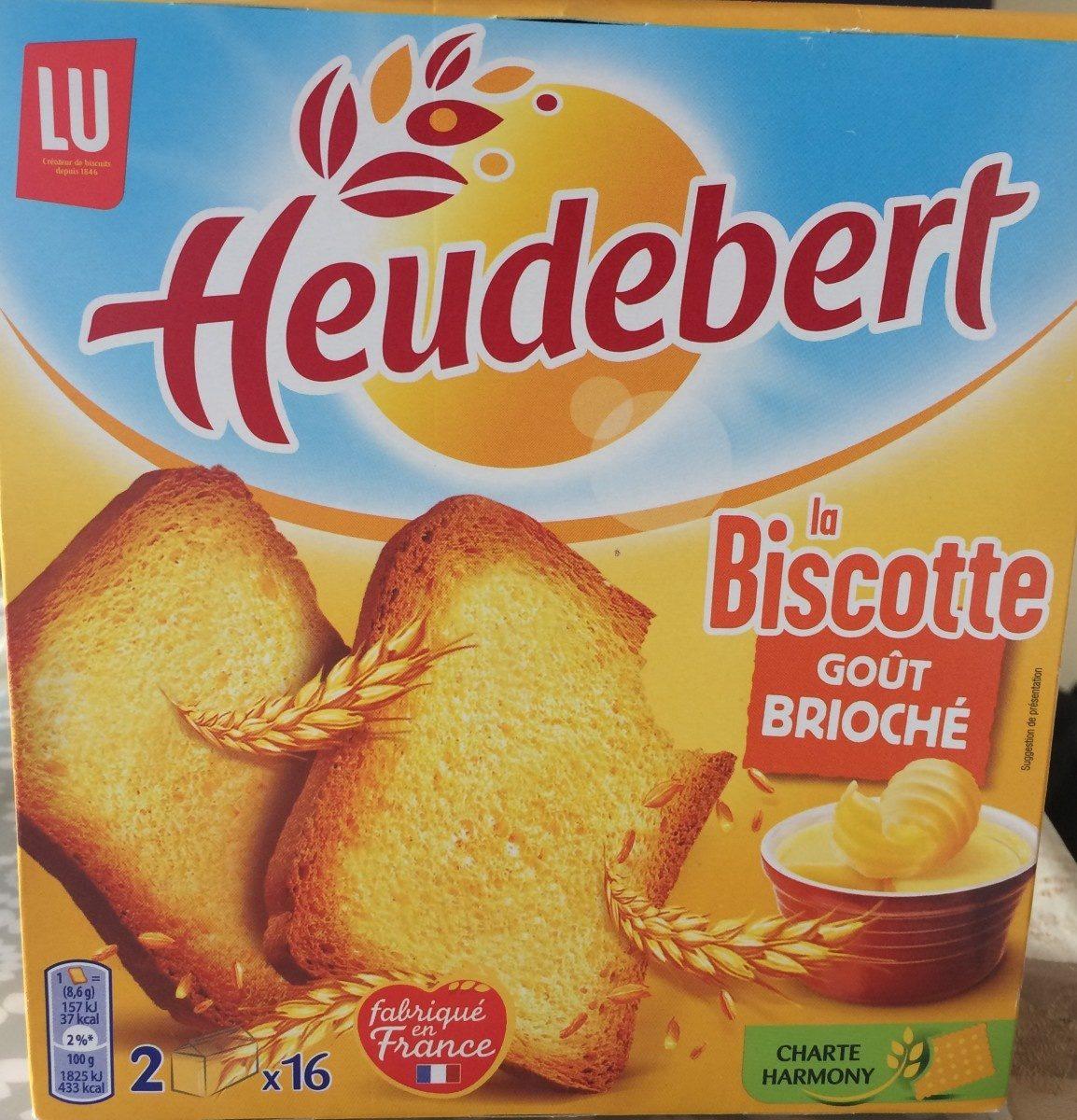 Heudebert La Biscotte Goût Brioché - Product - fr