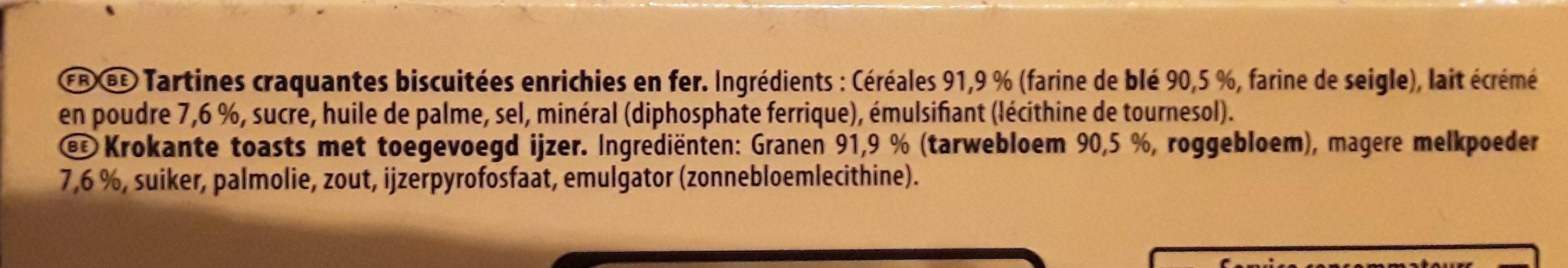 Heudebert Cracotte Gourmande - Ingredients