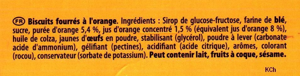 Chamonix - Ingredients - fr