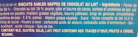 Sablés - Chocolat au Lait - Ingrédients - fr