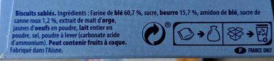 Sablé des Flandres - Ingrediënten - fr