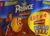 Lot de 4 paquets Prince Lu Goût Chocolat - Produit