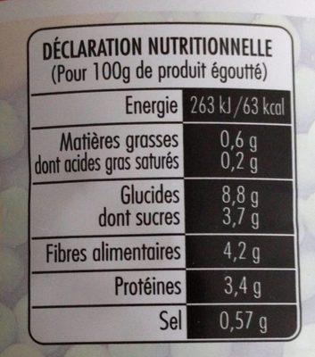 Petits pois et jeunes carottes très fins - Informations nutritionnelles - fr