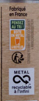 Haricots verts extra fins - Instruction de recyclage et/ou information d'emballage - fr