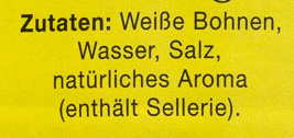 Weiße Bohnen tafelfertig - Ingrédients - de