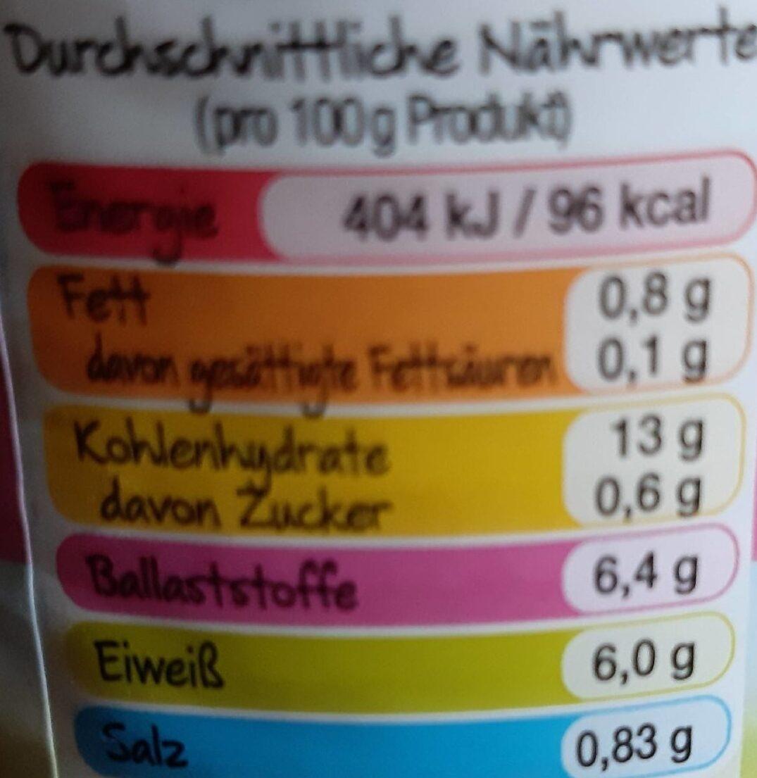 Weiße Bohnen tafelfertig - Informations nutritionnelles - de