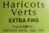 Haricots Verts Extra Fins - Ingredients