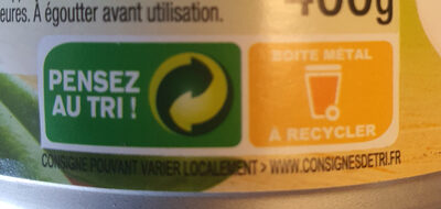 Petits pois à l'étuvée extra fins - Instruction de recyclage et/ou informations d'emballage - fr