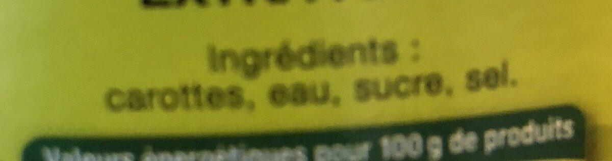 Carottes extra fines Daucy - Ingrédients - fr