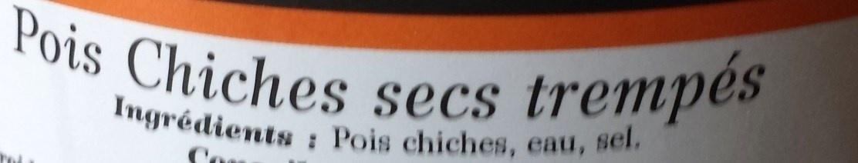 Pois Chiches secs & trempés - Ingredients