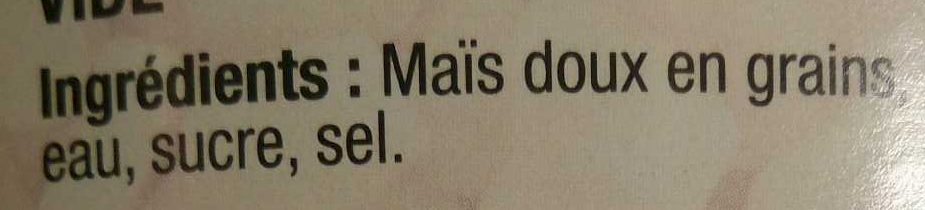 Maïs Doux Sous Vide - Ingrédients - fr