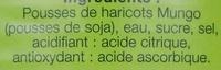 Pousses de Soja - Ingredients