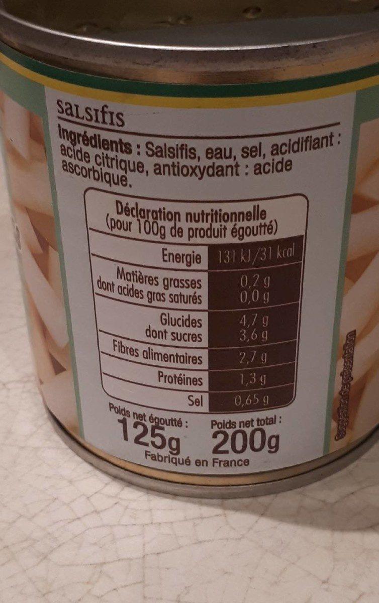 Salsifis - Informations nutritionnelles - fr