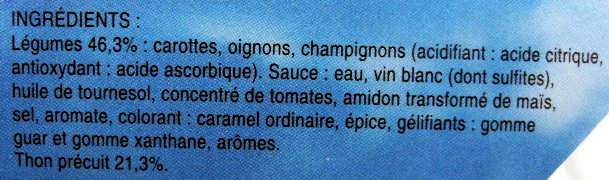 Matelote de Thon et ses petits légumes - Ingredients - fr