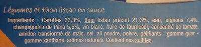 Matelote de thon - Ingredients - fr