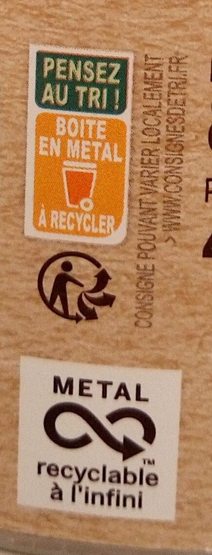Haricots verts plats - Instruction de recyclage et/ou information d'emballage - fr