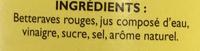 Betteraves Rouges assaisonnées en cubes - Ingrédients - fr