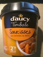 Timbale Saucisses aux lentilles du Berry - Product - fr