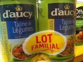 Tajine de légume (lot familial) - Produit