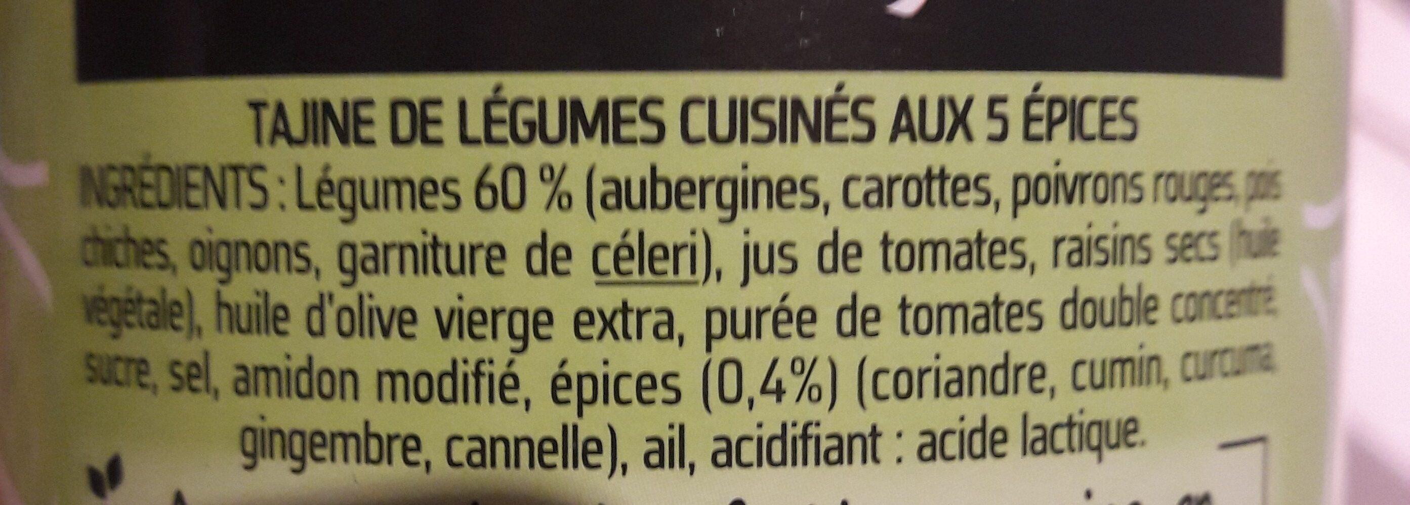 Tajine de légume (lot familial) - Ingrédients