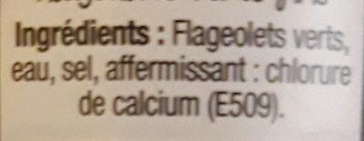 Flageolets fins - Ingrédients - fr
