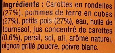 Poêlée Jardinière au jus de carottes - Ingrédients