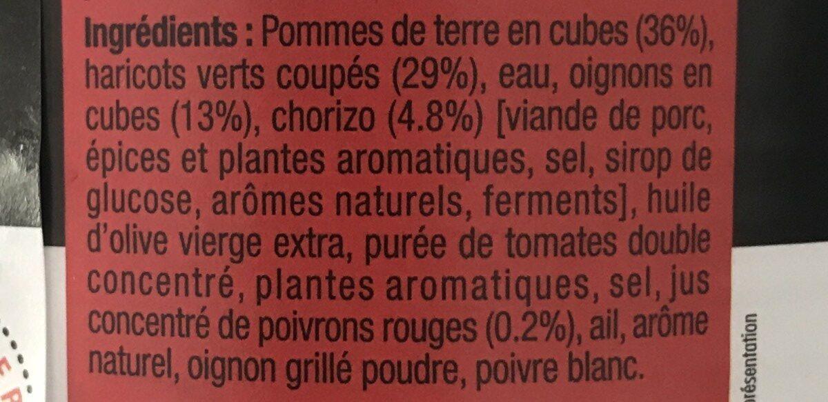 Poêlé basquaise au jus de poivrons - Ingrédients - fr