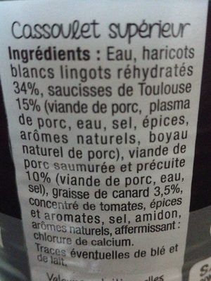 Cassoulet toulousain à la graisse de canard - Ingredients - fr