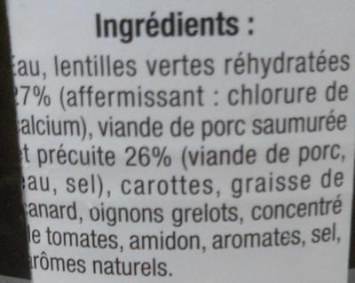 Petit salé cuisiné aux aromates - Ingrediënten
