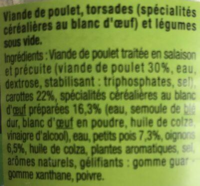 Poêlée de poulet - Ingredients