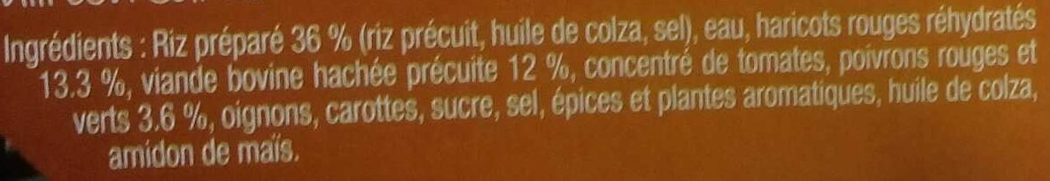 Chili con Carne - Ingrédients - fr