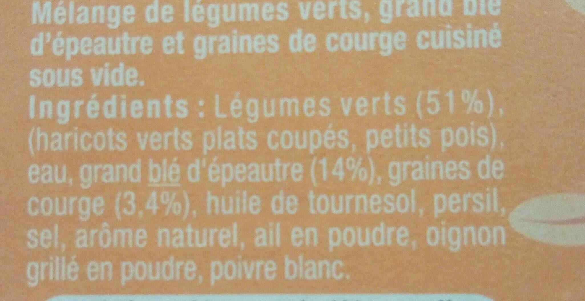 Légumes verts épeautre & graines de courge - Ingredients - fr
