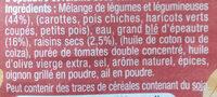 Tajine de légumes épeautre & raison secs - Ingrédients - fr