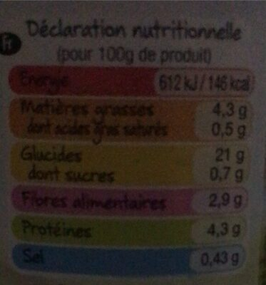Quinoa blanc - Valori nutrizionali - fr