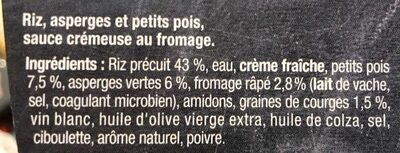 Risotto légumes verts - Ingredients