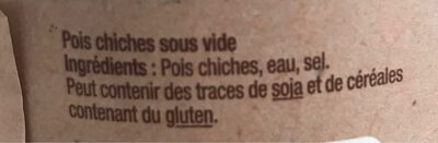 Le pois chiche - Ingredients