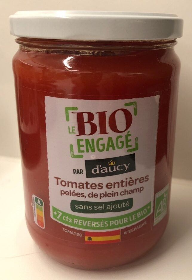 Tomates entières pelées, de plein champ - Produit
