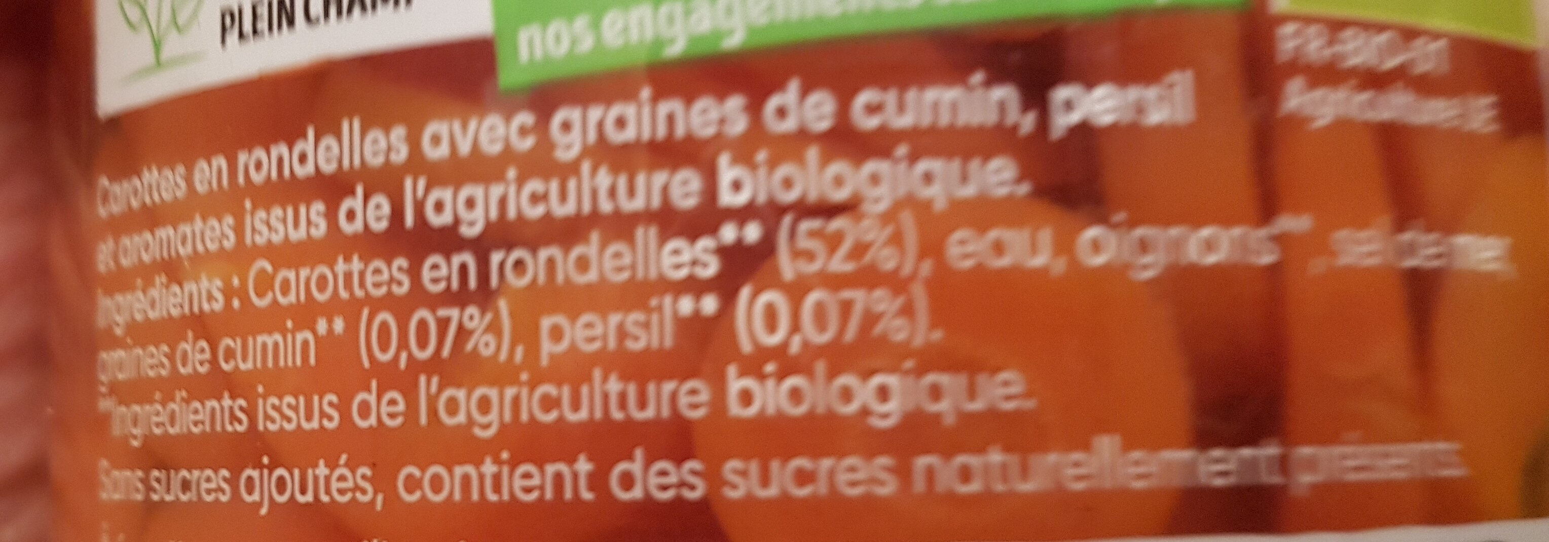 Carottes aux graines de cumin & persil - Ingredients - fr