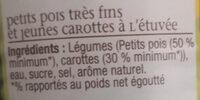 Petits pois carottes - Ingrédients - fr
