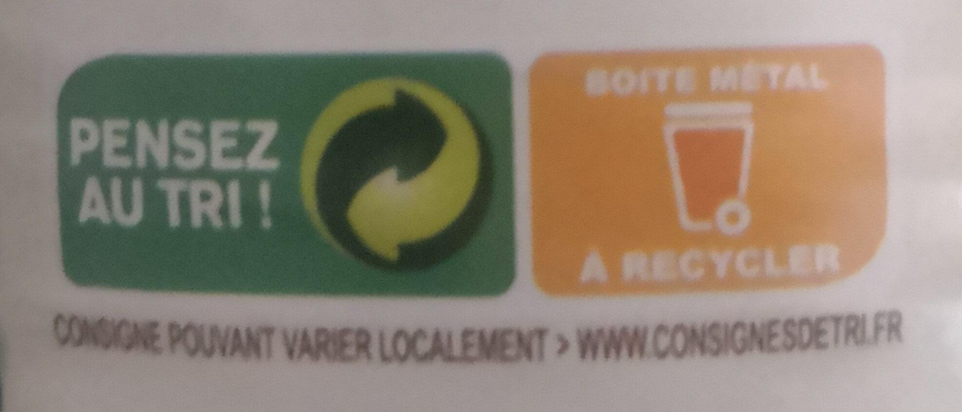 Petits pois carottes - Instruction de recyclage et/ou informations d'emballage - fr