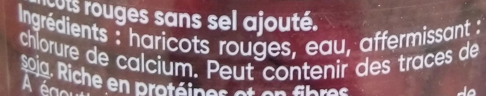 BIEN CULTIVES Haricots rouges - Ingrédients - fr