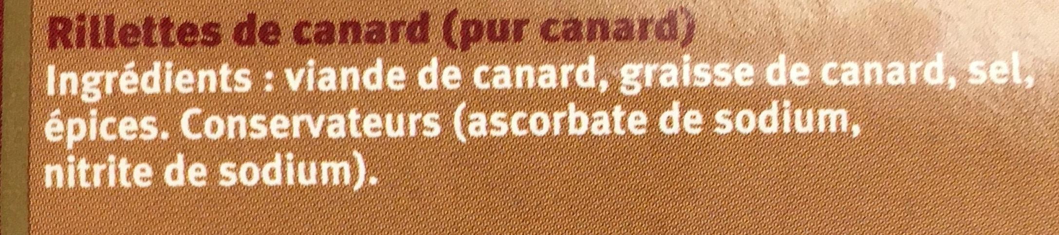 Rillettes de Canard pur Canard - Ingrediënten - fr