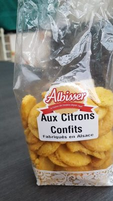 Biscuits au citron confit - Product
